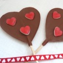 Strawberry Heart Lolly