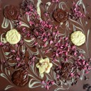 Giant Milk Chocolate Flower Bar