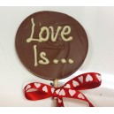 Milk Chocolate Love Is... Lolly