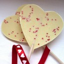 White Chocolate Heart Lolly
