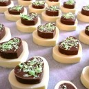 Handmade mini chocolate wedding cakes